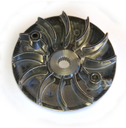 Remskiva med fläkt (metall)