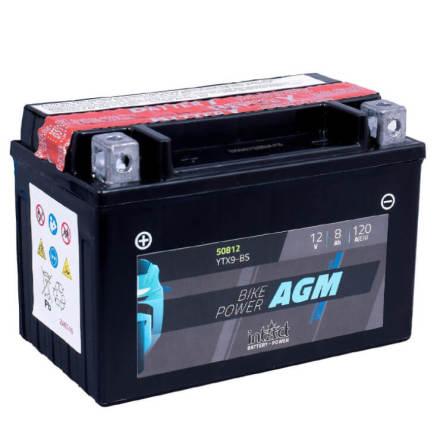 09 Batteri 12V 8Ah intAct