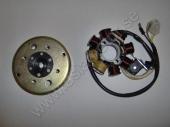 02 Baotian Tändplatta+svänghjul Halvvåg